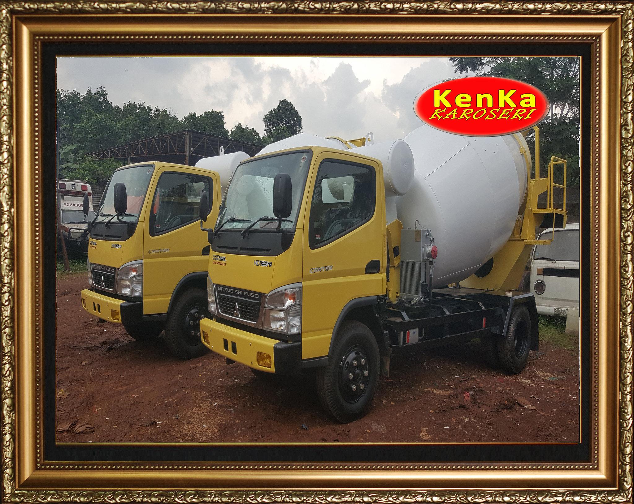 Karoseri Truck Mixer Mitsubishi - 6