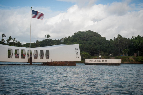Approaching the Arizona Memorial