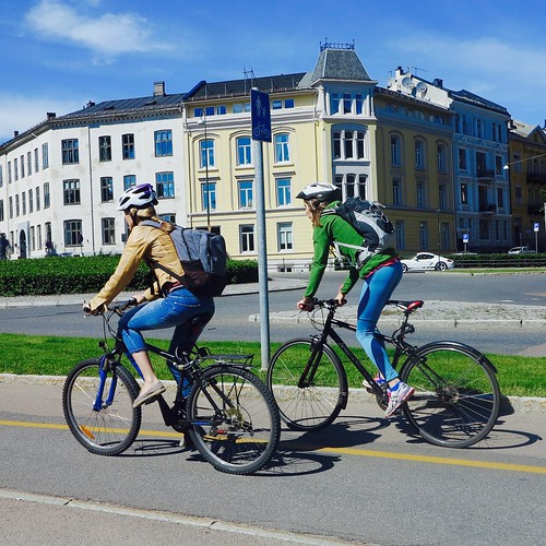 Girls on bicycles, Oslo.
