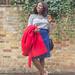 Boden 70s button up denim St Martins Skirt
