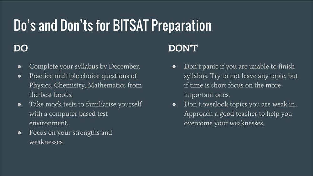 BITSAT Preparation Online