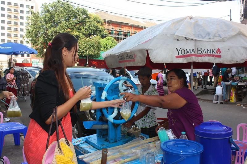 Янгон, уличная торговля