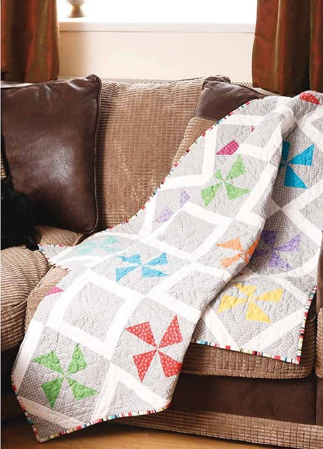 Fun with Pinwheels Quilt (British Patchwork & Quilting Jan17)