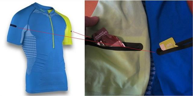 Οι τσέπες στα μανίκια, χωρητικότητας 150 ml η καθεμία, αποτελούν σημαντική καινοτομία της μπλούζας!