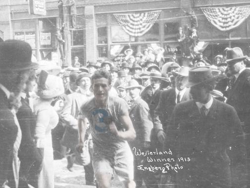 O νικητής του αγώνα το 1913, Paul Westerlund!