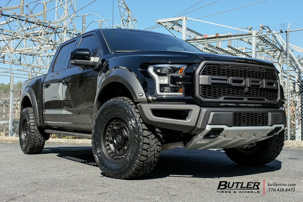 2017 Ford Raptor with 18in Black Rhino Armory Wheels and T ...