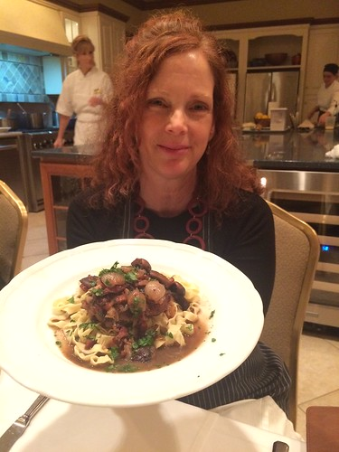 Making coq au vin! L'ecole Du Maison. From How To Spend a Weekend At The Osthoff Resort, Elkhart Lake, Wisconsin