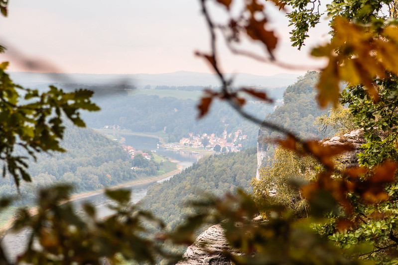 fall in saxon switzerland