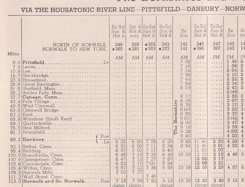 New Haven 1949 Housatonic River Line