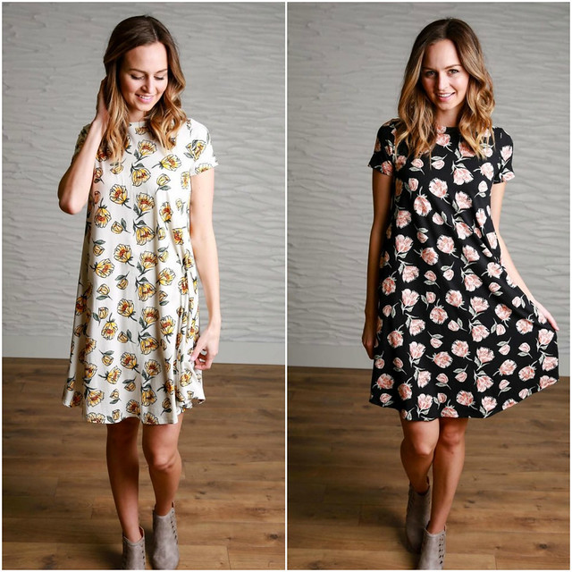 Poppy Floral Dress Collage from Simple Addiction
