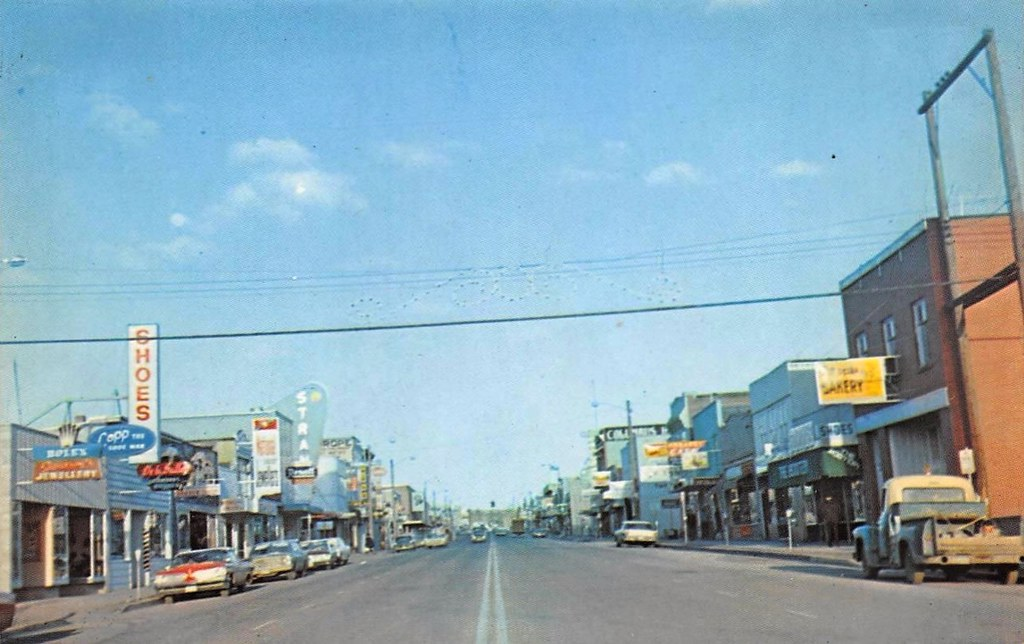 postcard third avenue prince george bc 1960s quotprince