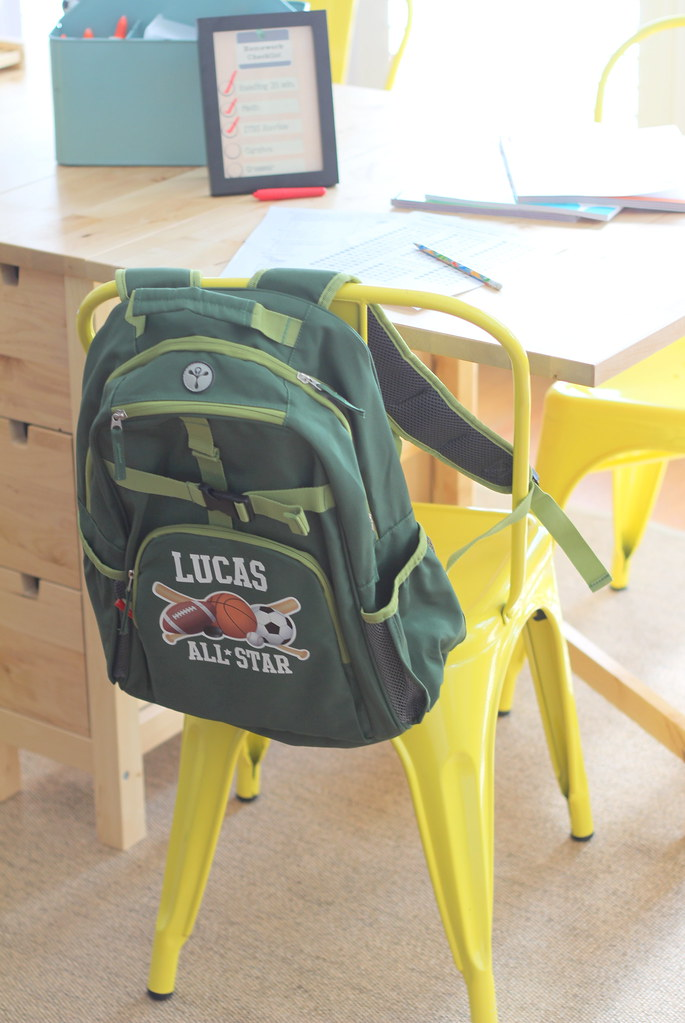 Personalized Backpack Book Bag On A Yellow Chair Www