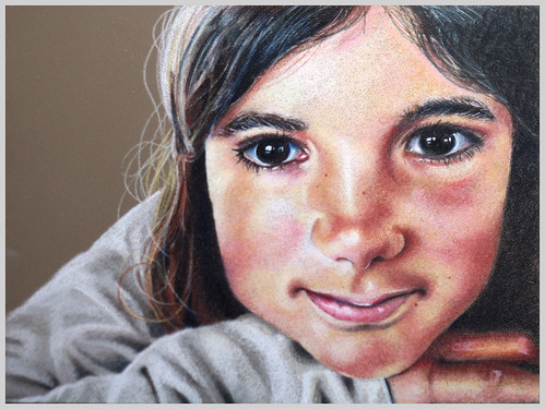 Colored pencil drawing entitled Clara, 9