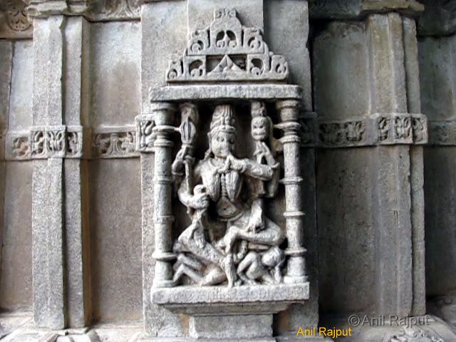 Ma Kali with skull in hand and Lord Shiva lying on ground, Sahastrabahu Temple, Nagda, Udaipur