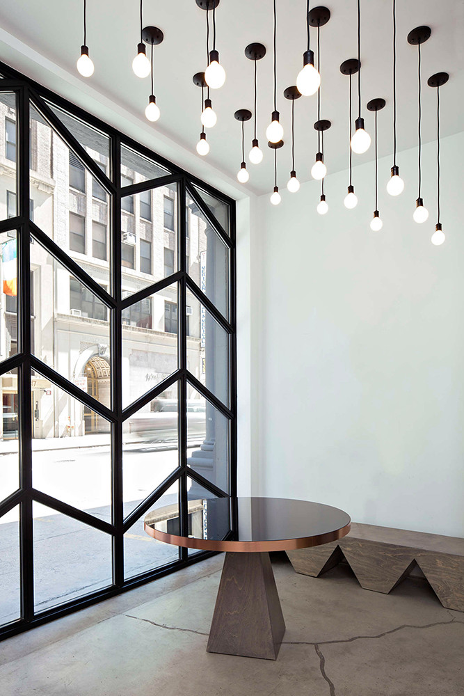 Office space design of the former firehouse in New York Sundeno_07