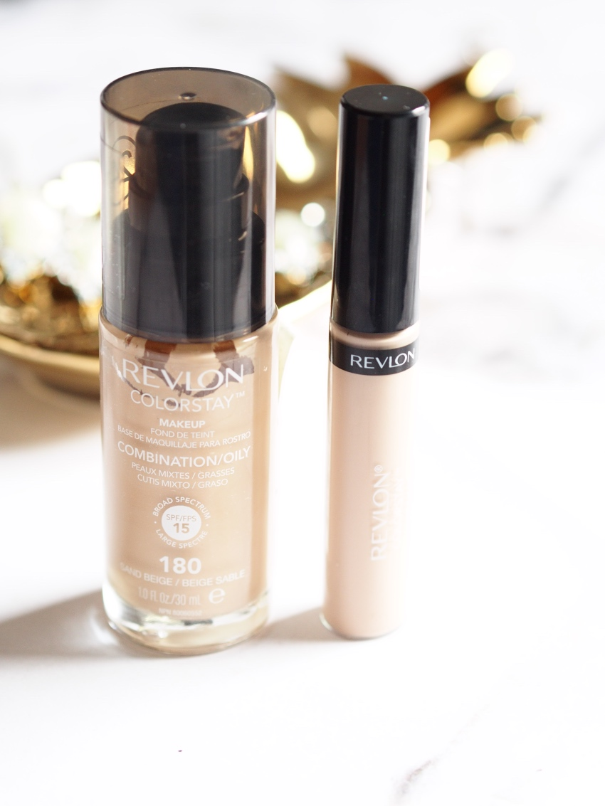 Revlon Colorstay foundation, Revlon Colorstay concealer