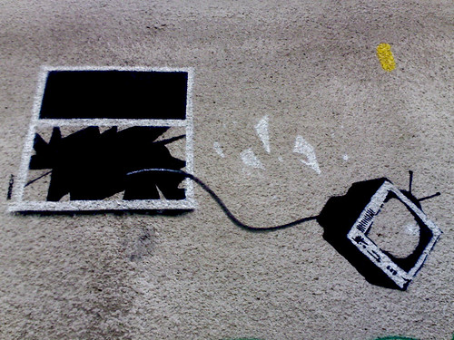Banksy: Throw Away Your Television | by m1l35