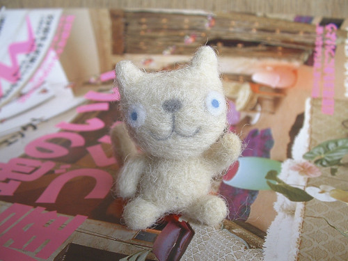 Needle felted cat | by my little mochi