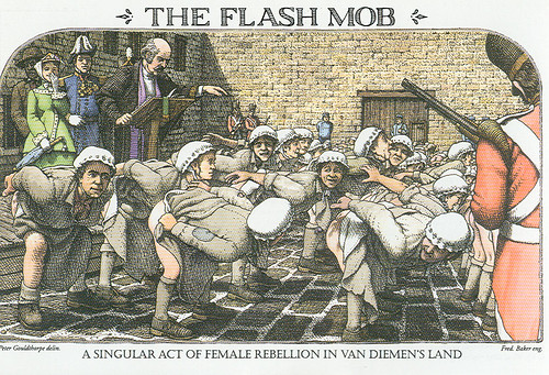The Flash Mob: A singular act of female rebellion in Van Deimen's Land | by lackaff