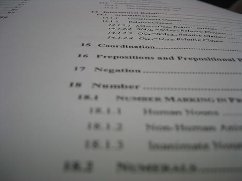 destination dissertation table of contents