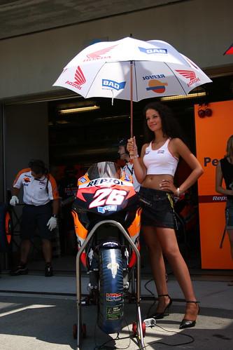 Repsol Honda Umbrella Girl | Laguna Seca MotoGP | Flickr