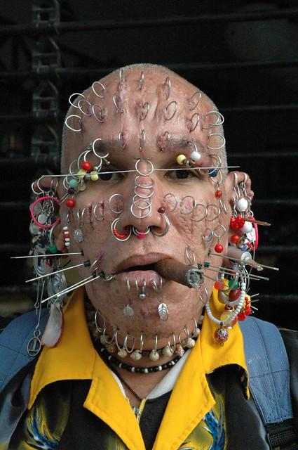 piercing man