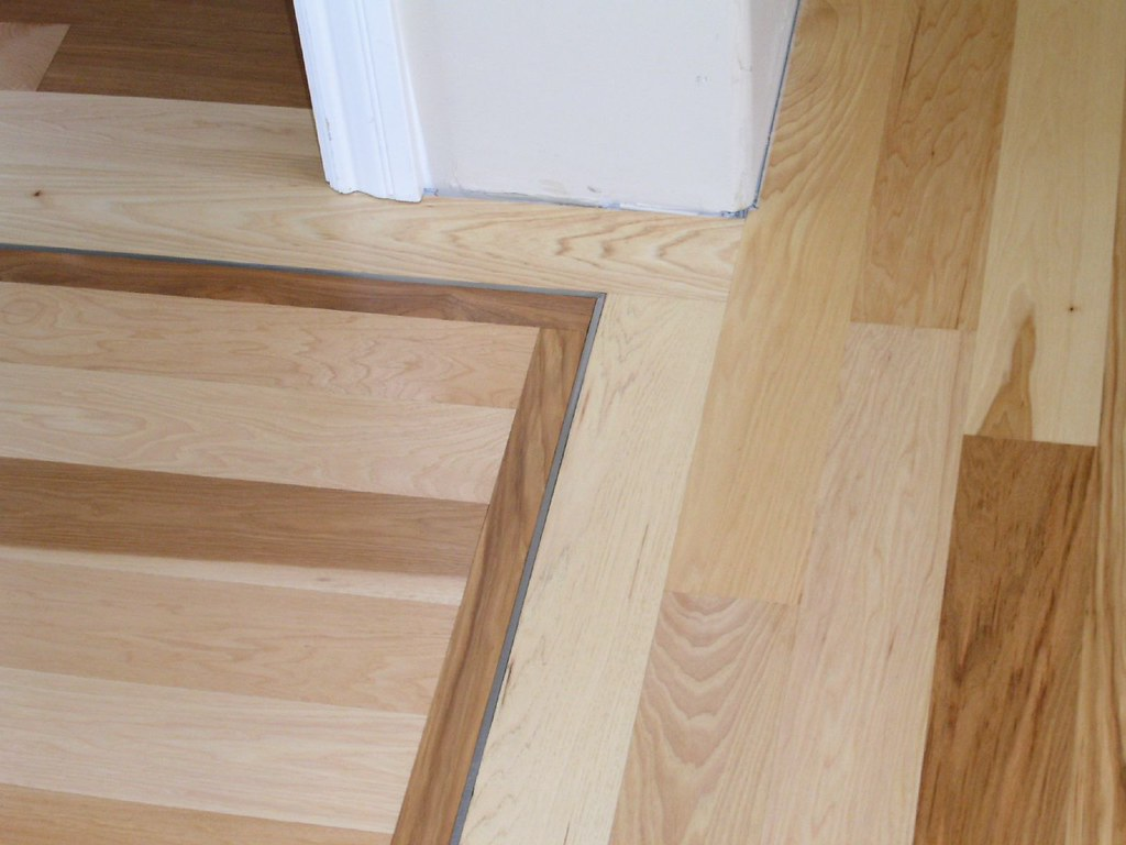 Stainless Steel Floor Inlays : Owens plank floor hickory with stainless steel inlay flickr