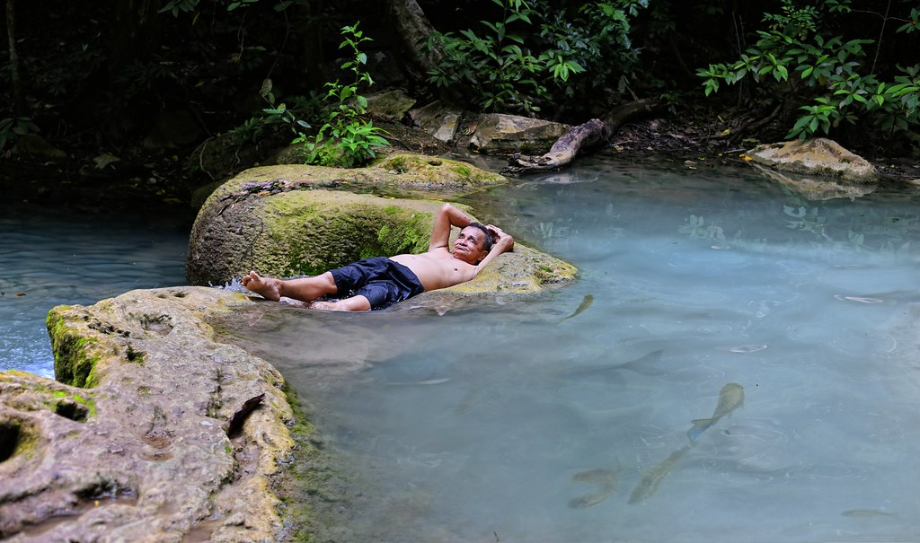 Stressless At Erawan Waterfalls All Rights Reserved By B Flickr