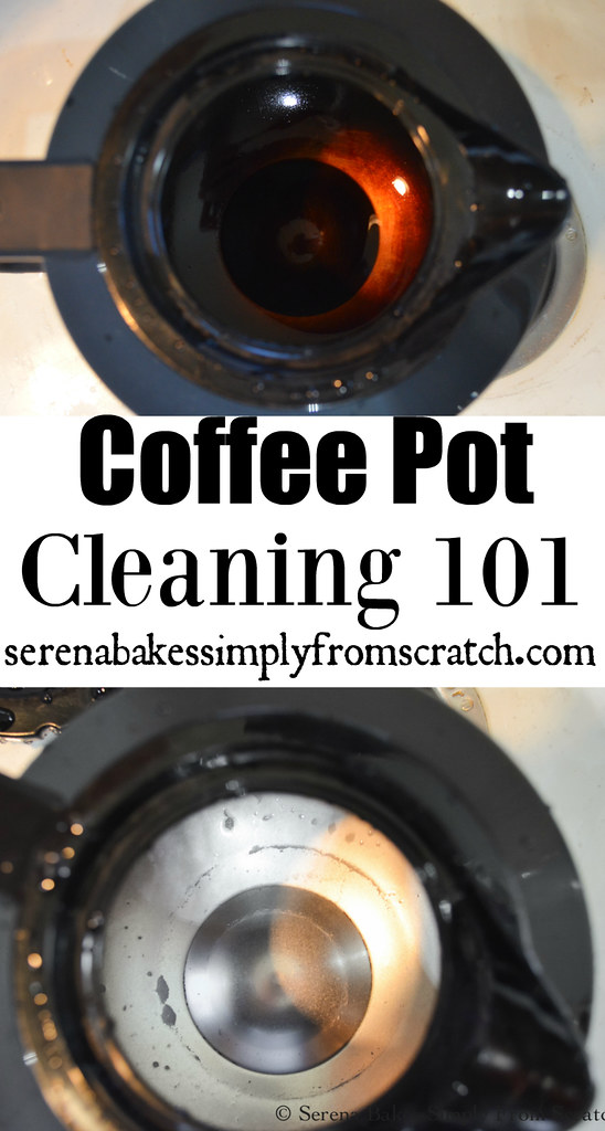 How to Clean a Stained Stainless Steel Coffee Pot without a lot of elbow grease! serenabakessimplyfromscratch.com