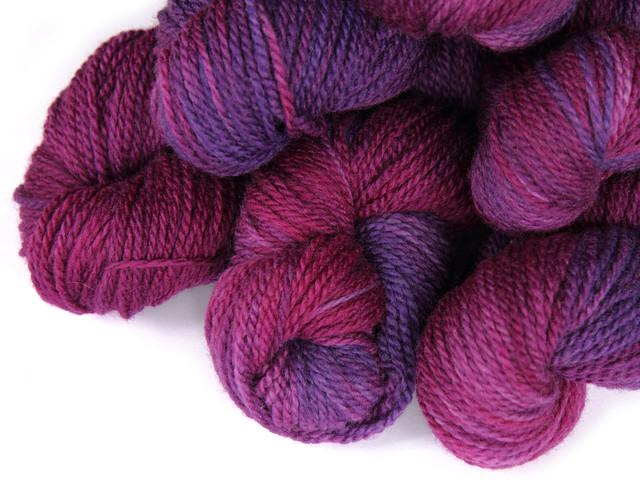 Awesome Aran – British BFL hand dyed yarn 'Purple Heart'