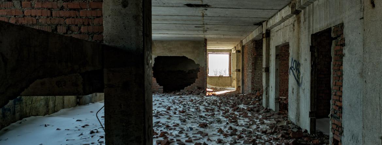 Заброшенная больница в городе Плавск