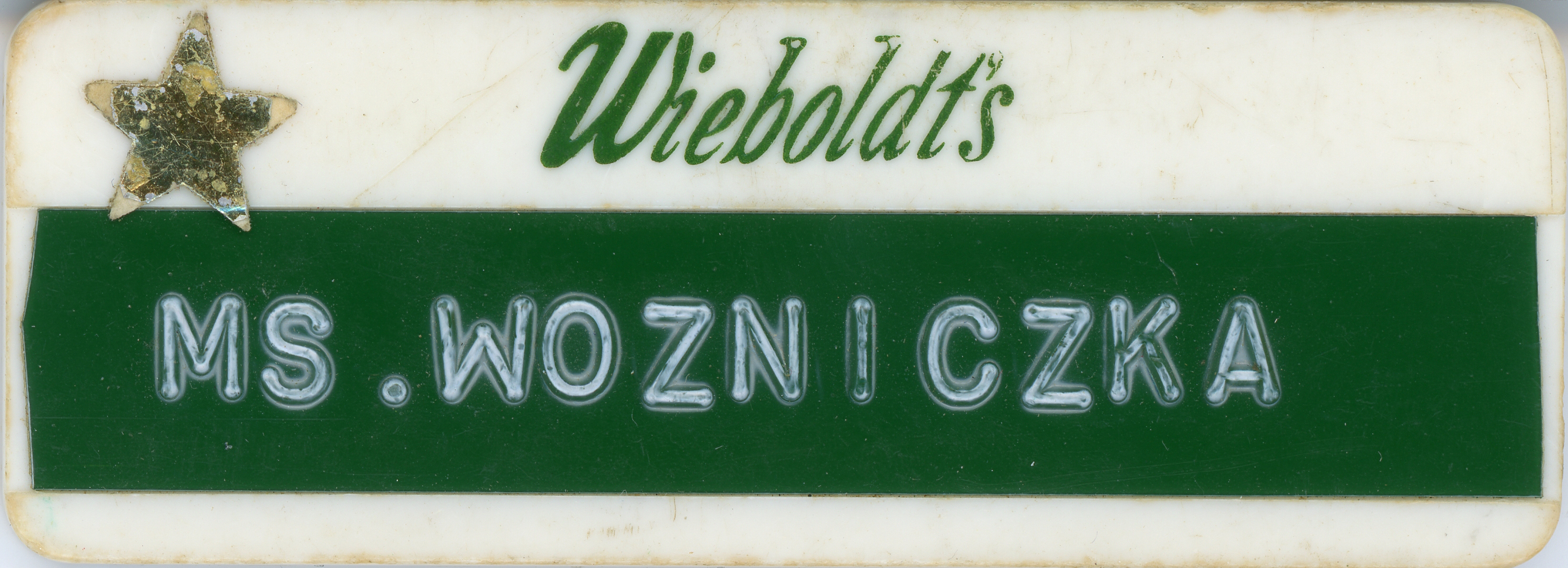Lakehurst Wieboldt's nametag
