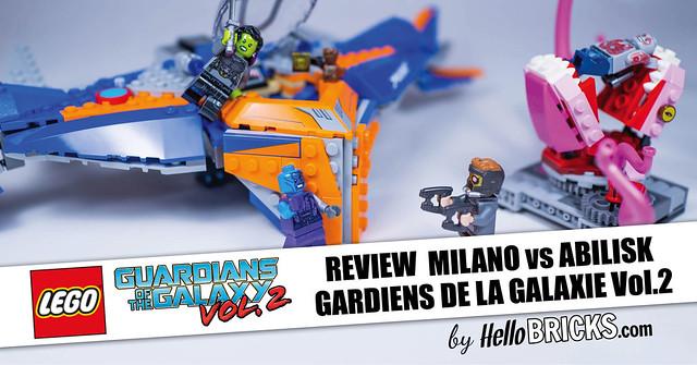 Lego 76081 - Marvel Super Heroes - Gardiens de la Galaxie Vol.2 - The Milano vs The Abilisk