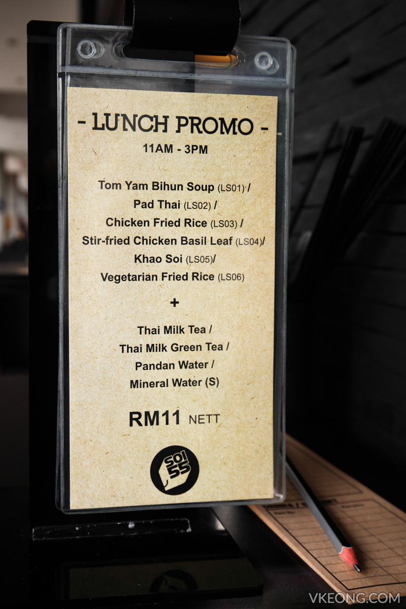 Soi 55 Thai Kitchen Lunch Promo