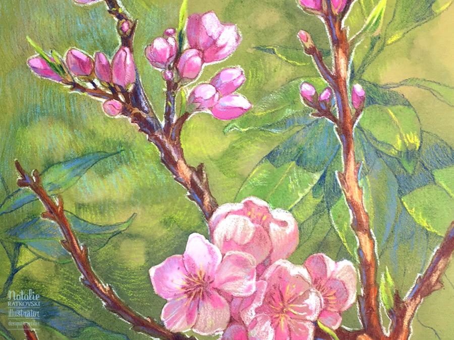 Sketch flash mob 2017: Результаты по теме Весенние цветы, Nr. 151 Spring flowers