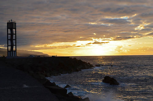 Sunset north Tenerife coast, Tenerife