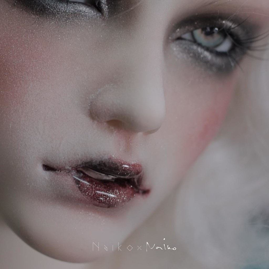 New face-up for my dia. The concept is add sugar powder on… | Flickr Bjd