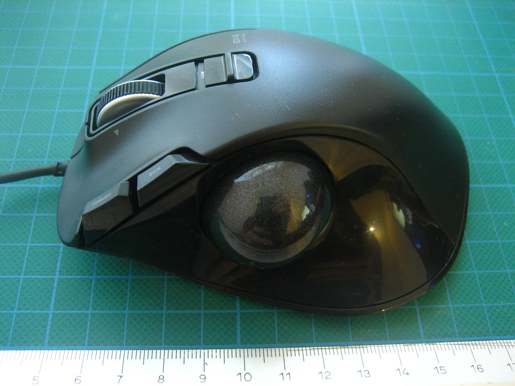 Elecom M-XT1URBK (Wired M-XT1DRBK Variant) Trackball Mouse… | Flickr