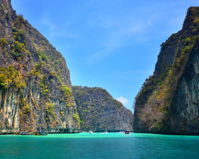 Pileh Lagoon, en las islas Phiphi, Tailandia