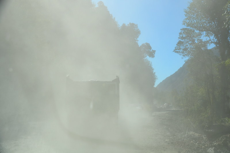 Driving the dusty Carretera Austral,Chile