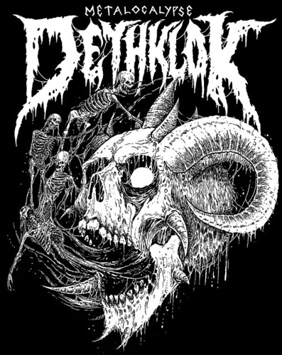 Metalocalypse - Dethklok artwork by Mark Riddick