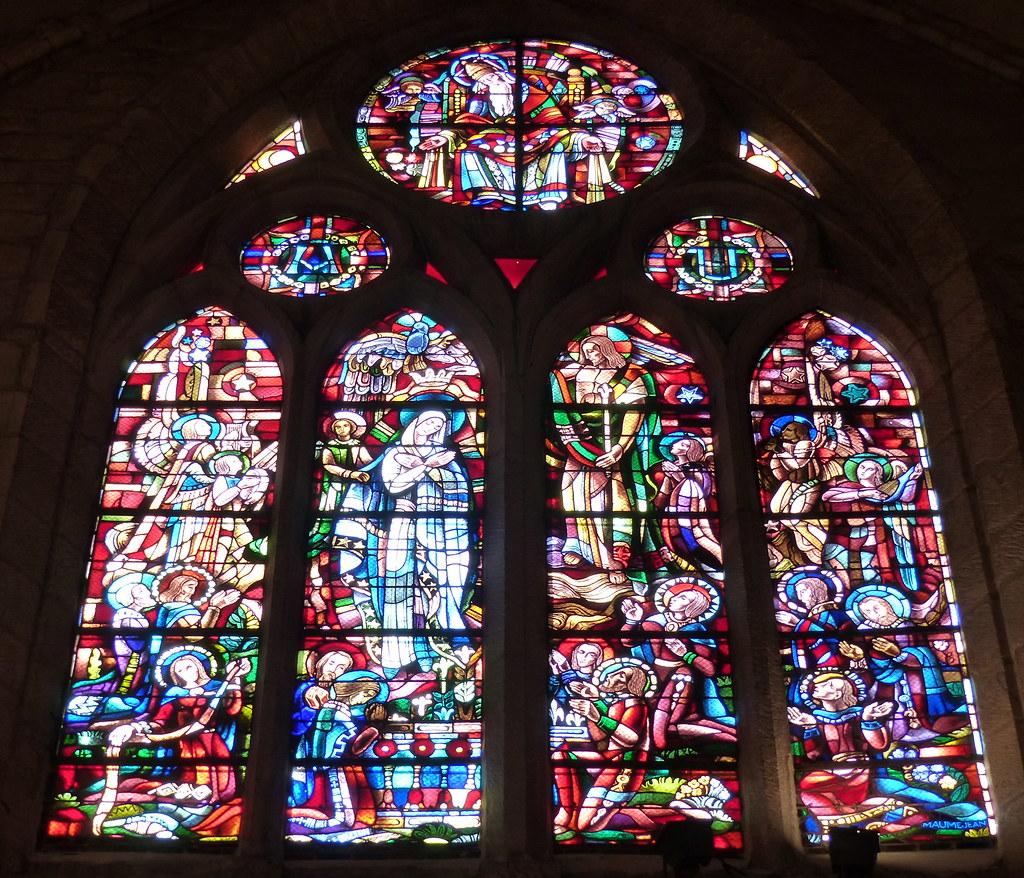 ... Corbeil Essonnes, Essonne: Cathédrale Saint Spire, Vitrail Des Ateliers  Mauméjean,