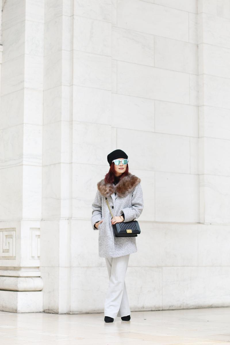 gray-coat-faux-fur-stole-jumpsuit-beanie-8