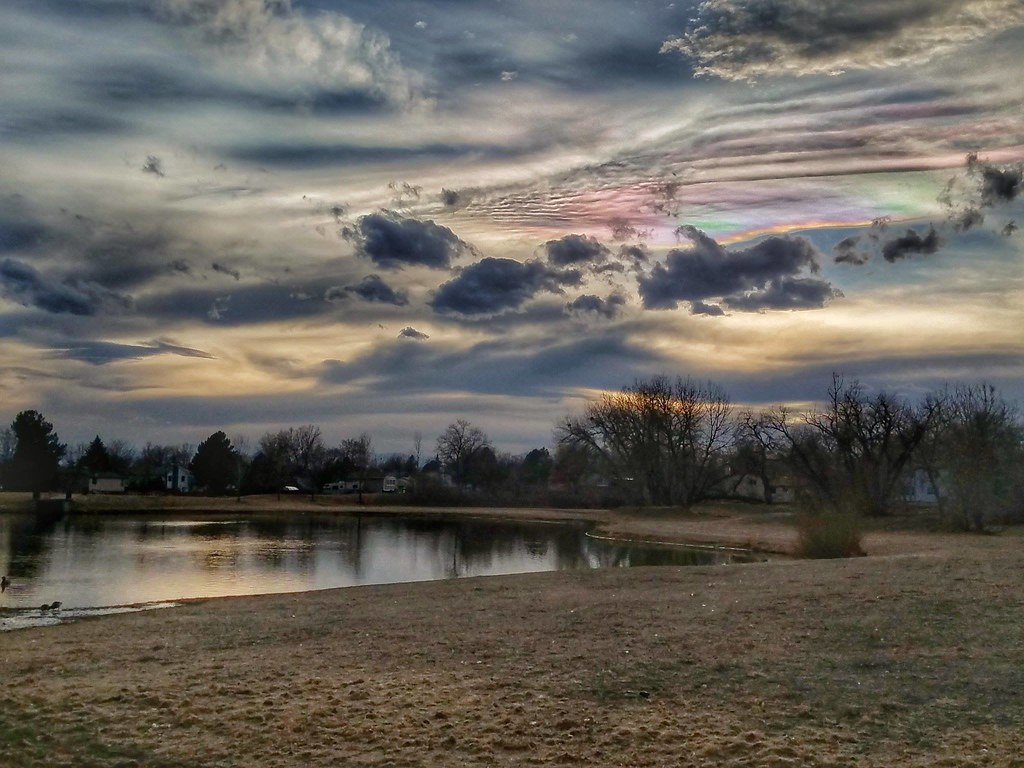 Iridescent clouds make for a stunning scene at the end of the day on March 10, 2017. (Allan Jeffers)
