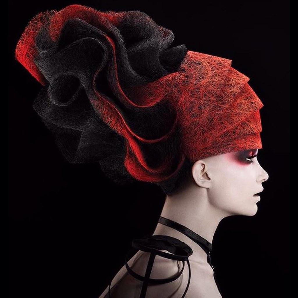 ArtistChristofer Benson Avantgarde Hair Model Hairstyles Haircolor Haircut
