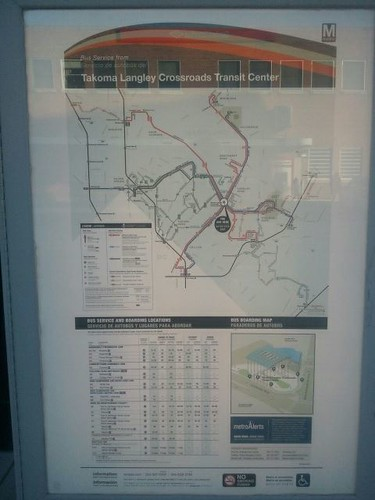 Station route map, Takoma Langley Crossroads Transit Station