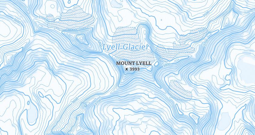 Ski mountain peaks
