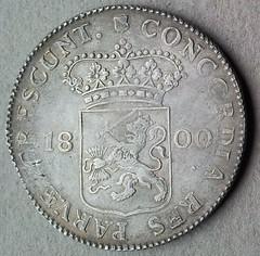 1800 Utrecht Silver Ducat reverse