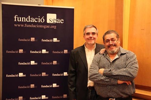 Santiago Montobbio y Ofilio Picón en SGAE. Fotos: Anna Xalabarder