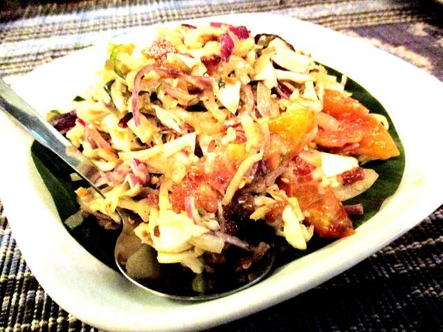 Century egg salad